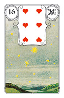 Lenormand card, picture sample, The Stars