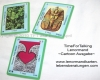 Evas Lenormandkarten, 3 verschiedene Kartendecks, TFT TimeForTalking Lenormand  Photo Ausgabe, Cartoon Ausgabe, Cartoon Spotlight Ausgabe, Photo Beispielkarten der Cartoon Ausgabe.